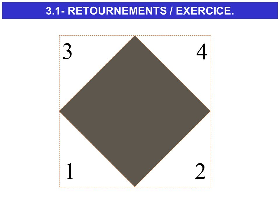 3.1- RETOURNEMENTS / EXERCICE.