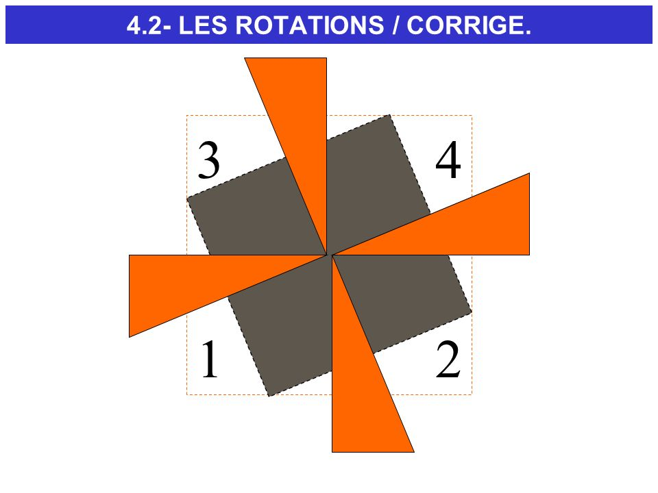 4.2- LES ROTATIONS / CORRIGE.