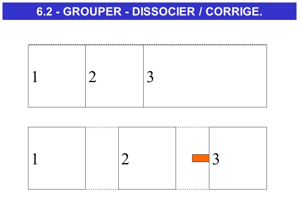 6.2 - GROUPER - DISSOCIER / CORRIGE.