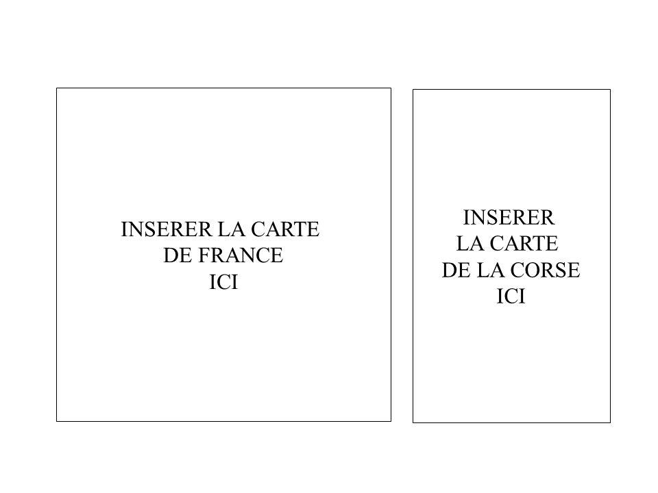 2.1 - IMAGE / EXERCICE. INSERER INSERER LA CARTE LA CARTE DE FRANCE