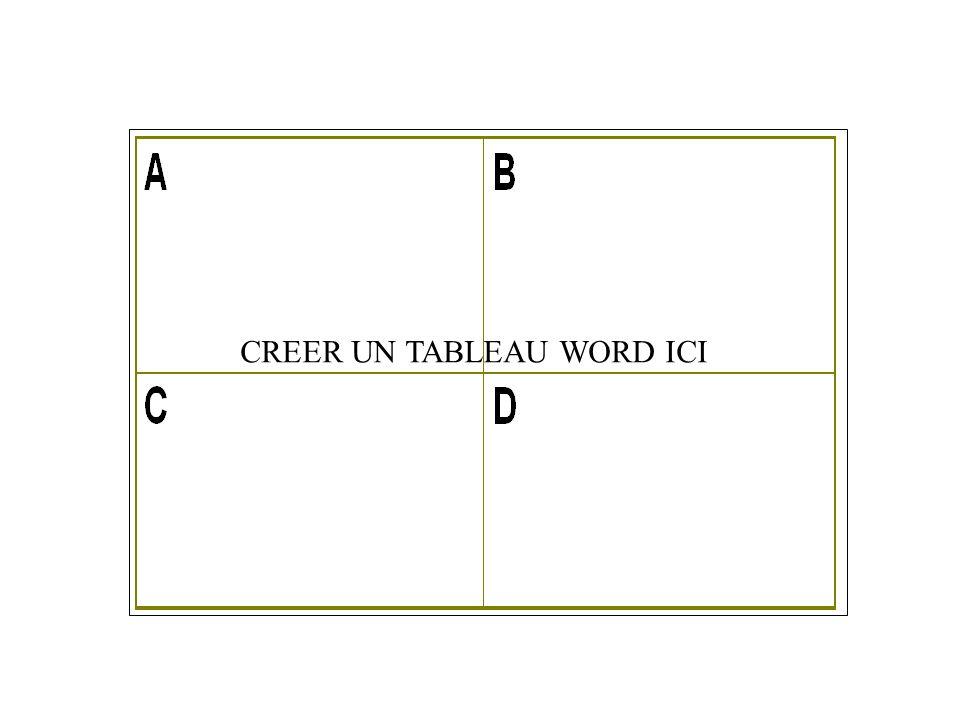 1.2 - TABLEAU WORD / CORRIGE.