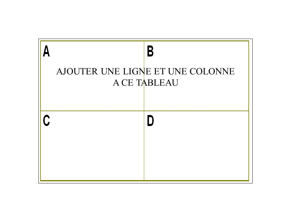 1.3 - TABLEAU WORD / EXERCICE.