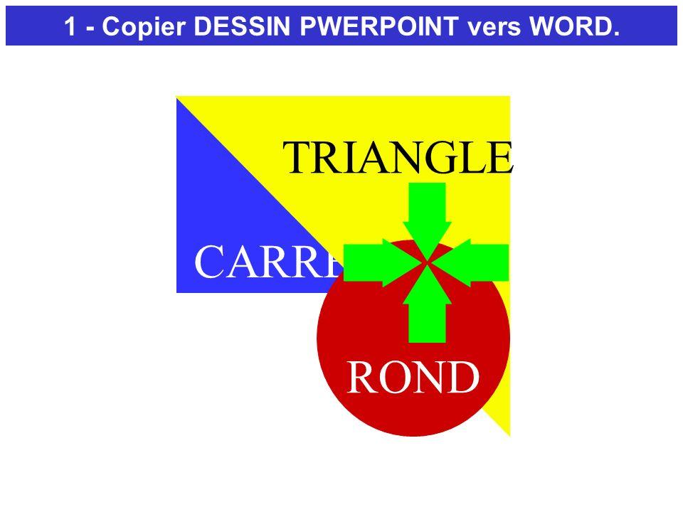1 - Copier DESSIN PWERPOINT vers WORD.