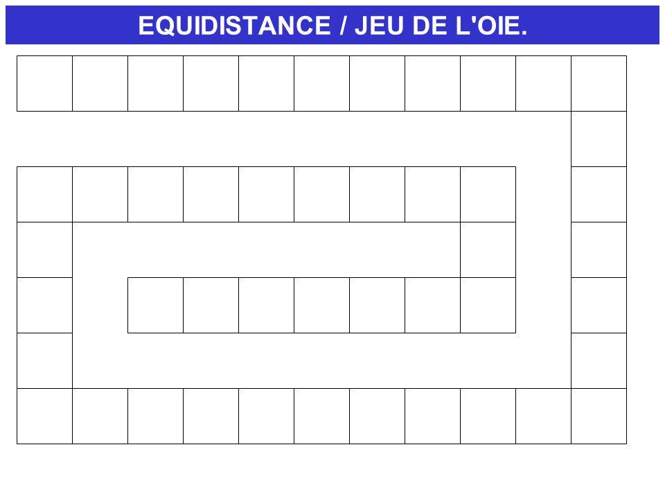 EQUIDISTANCE / JEU DE L OIE.