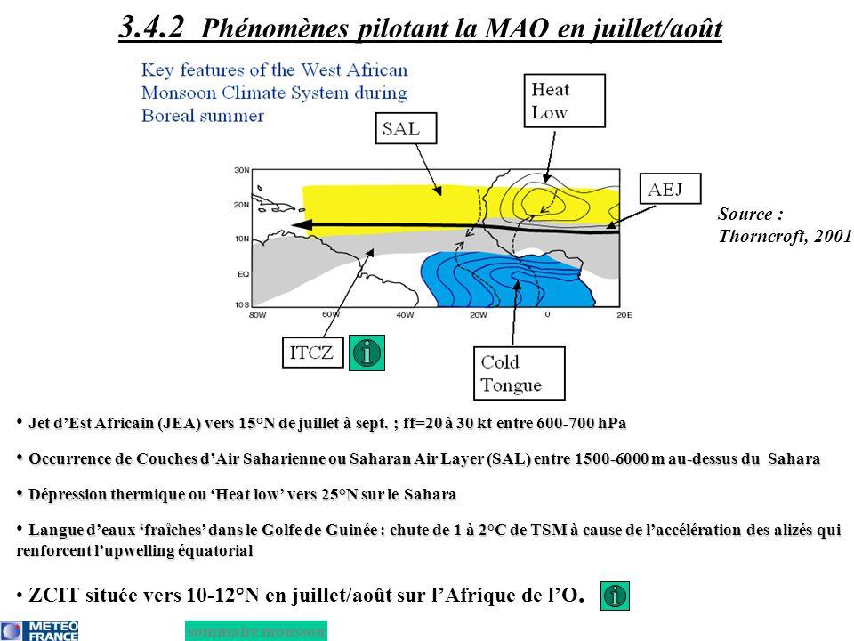 3.4.2 Phénomènes pilotant la MAO en juillet/août