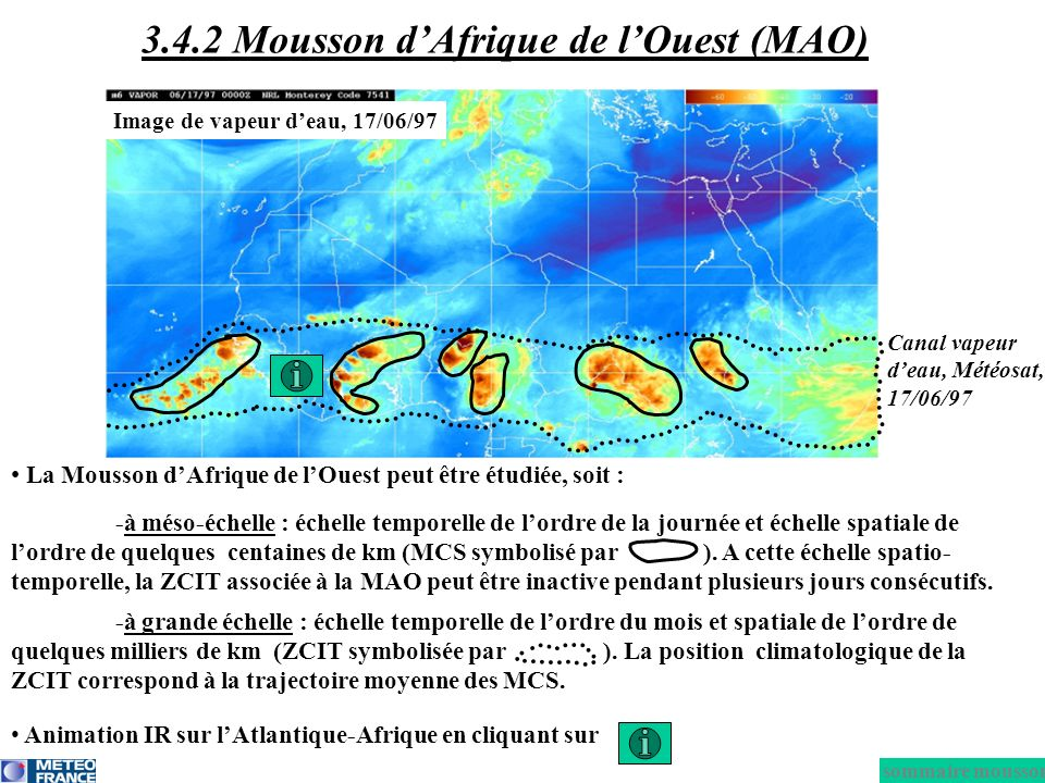 3.4.2 Mousson d'Afrique de l'Ouest (MAO)