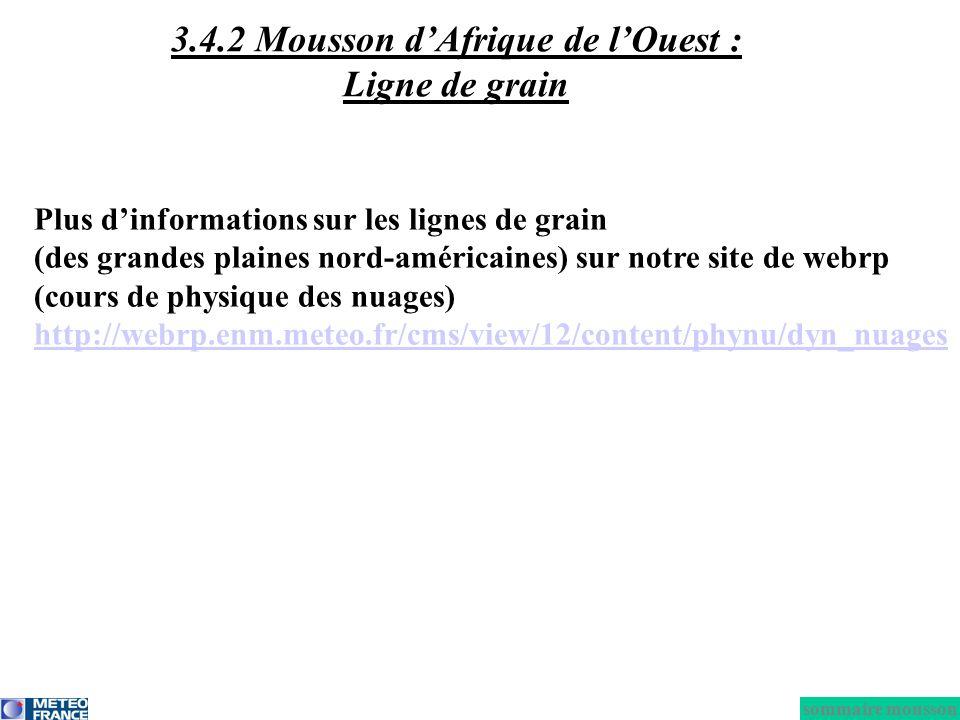3.4.2 Mousson d'Afrique de l'Ouest : Ligne de grain