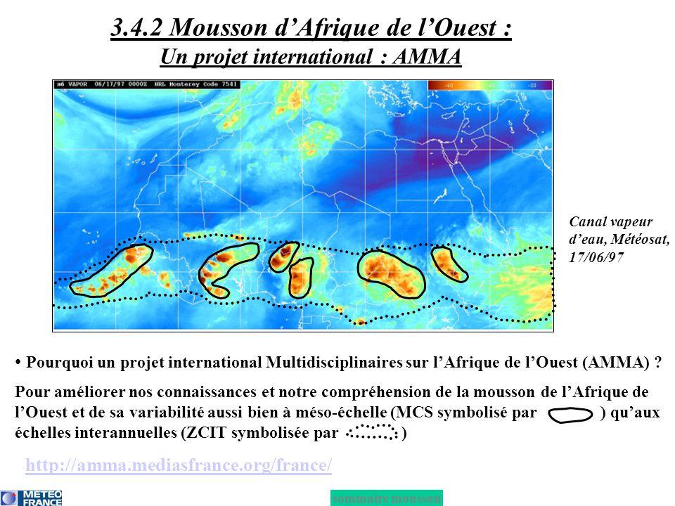 3.4.2 Mousson d'Afrique de l'Ouest : Un projet international : AMMA