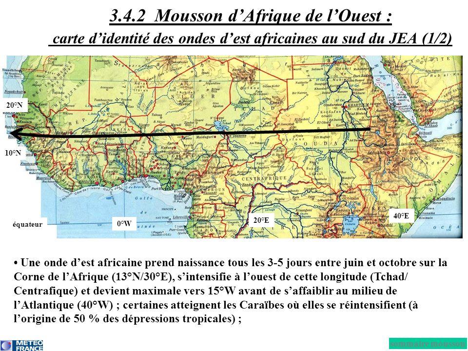 3.4.2 Mousson d'Afrique de l'Ouest : carte d'identité des ondes d'est africaines au sud du JEA (1/2)