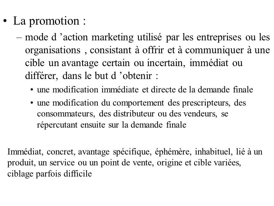 La promotion :