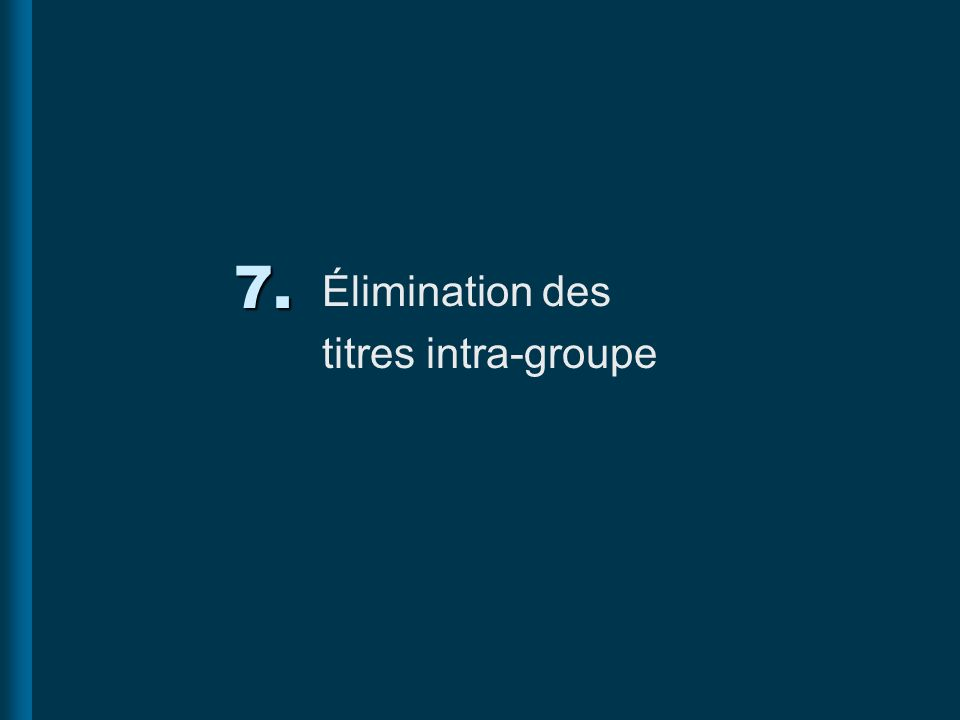 Élimination des titres intra-groupe