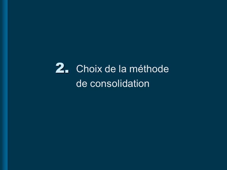 Choix de la méthode de consolidation