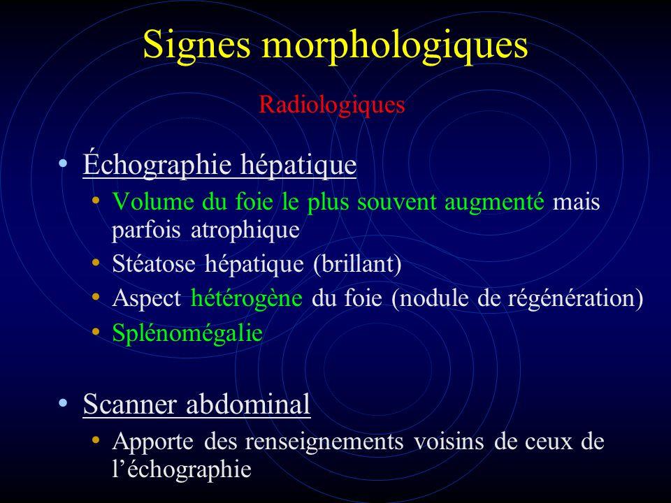 Signes morphologiques