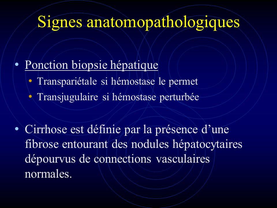 Signes anatomopathologiques