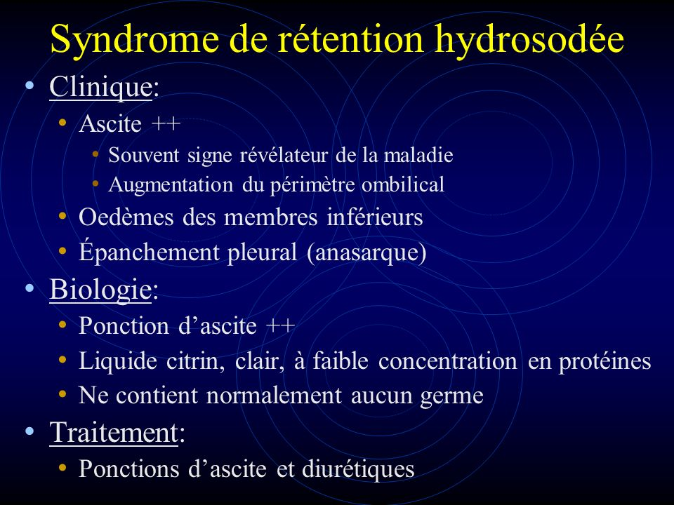 Syndrome de rétention hydrosodée
