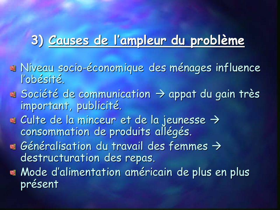 3) Causes de l'ampleur du problème