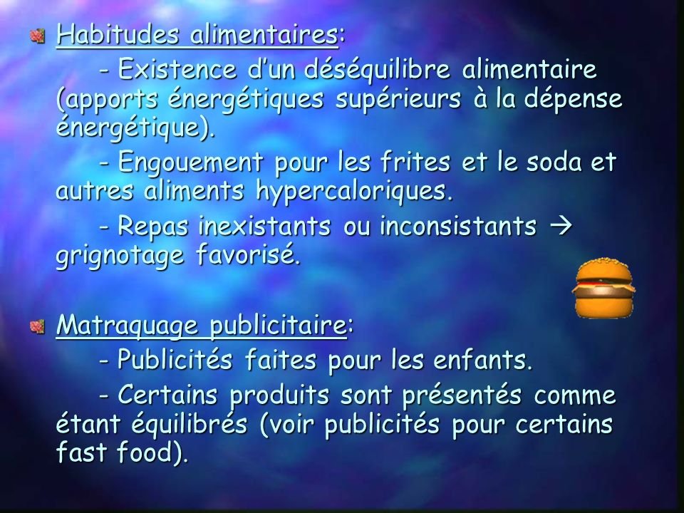 Habitudes alimentaires: