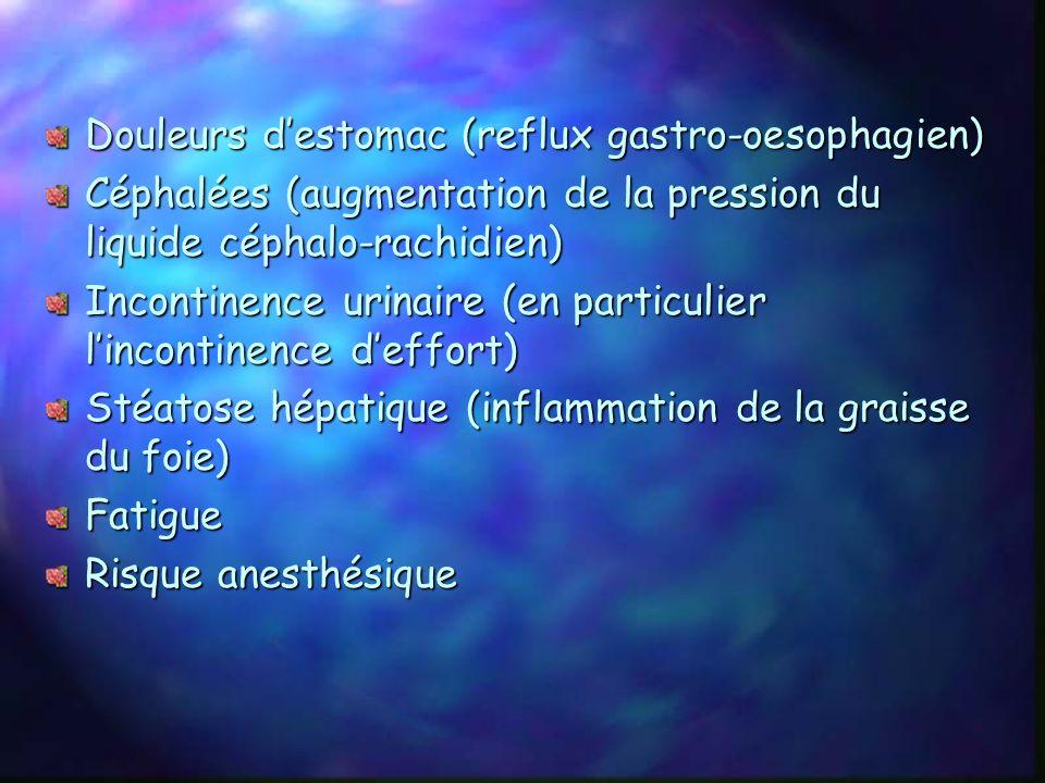 Douleurs d'estomac (reflux gastro-oesophagien)