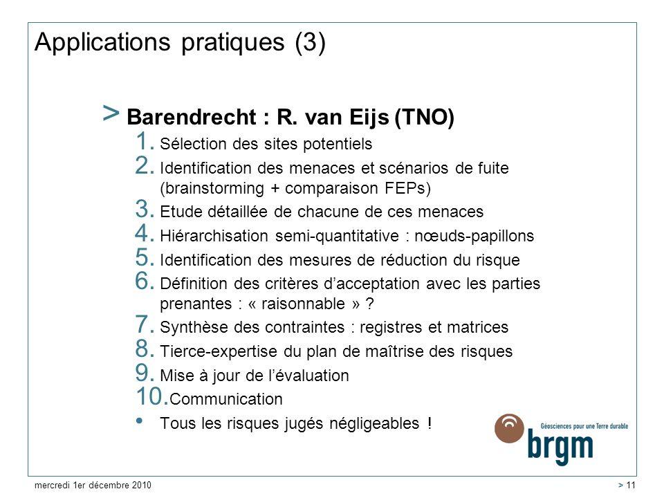 Applications pratiques (3)