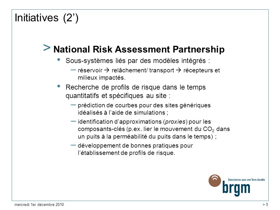 Initiatives (2') National Risk Assessment Partnership