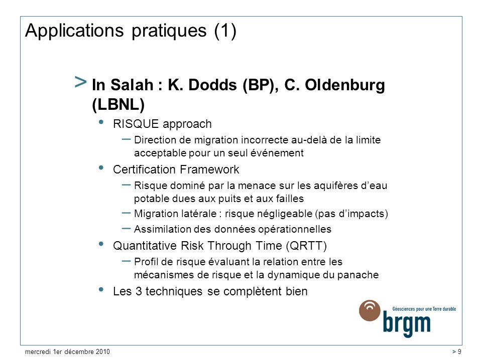 Applications pratiques (1)