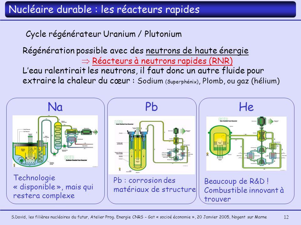  Réacteurs à neutrons rapides (RNR)