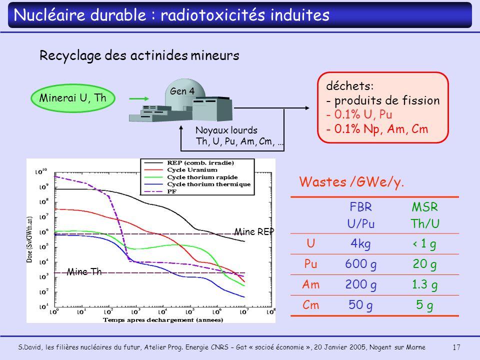 Nucléaire durable : radiotoxicités induites