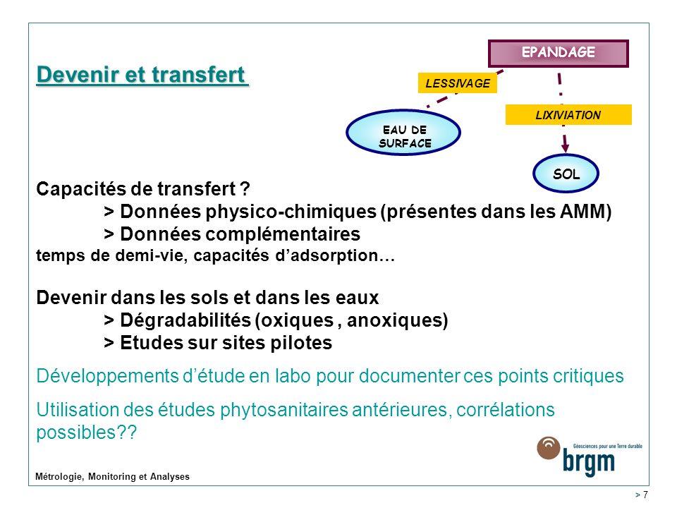 Devenir et transfert Capacités de transfert