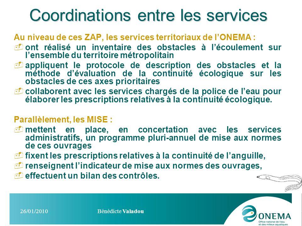 Coordinations entre les services