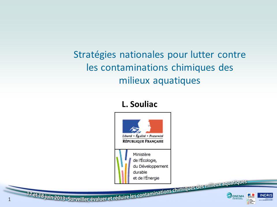 Stratégies nationales pour lutter contre les contaminations chimiques des milieux aquatiques