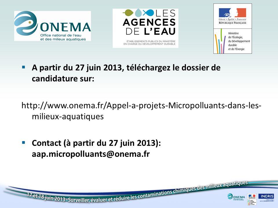 A partir du 27 juin 2013, téléchargez le dossier de candidature sur: