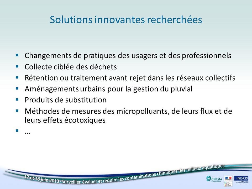 Solutions innovantes recherchées