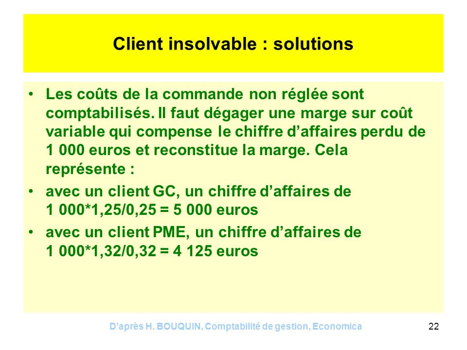 Client insolvable : solutions