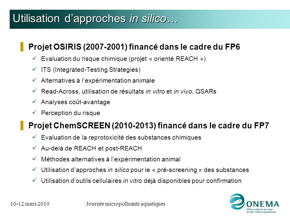 Utilisation d'approches in silico…