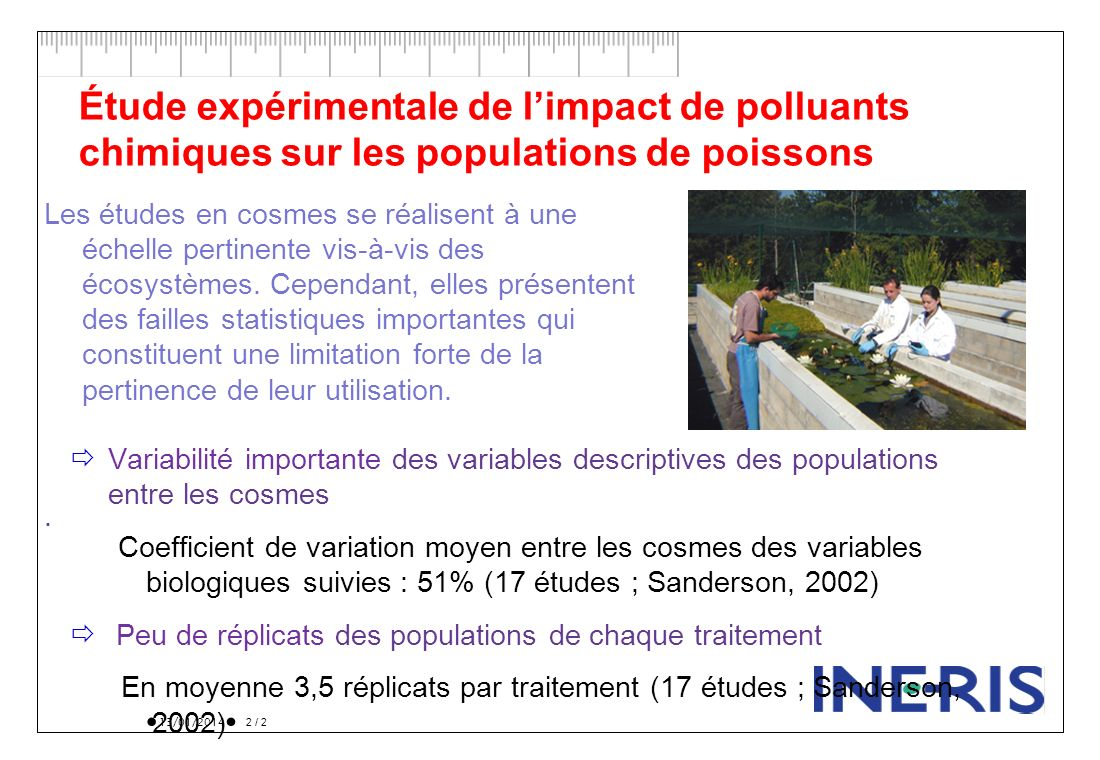 Étude expérimentale de l'impact de polluants chimiques sur les populations de poissons