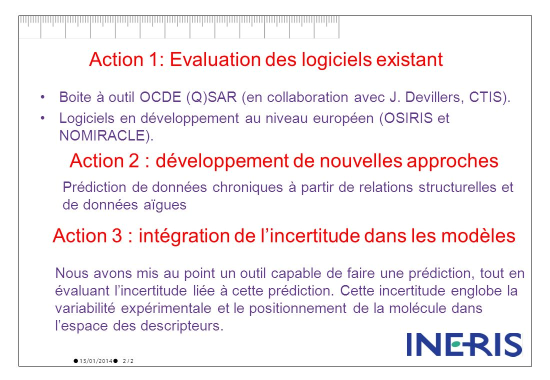 Action 1: Evaluation des logiciels existant