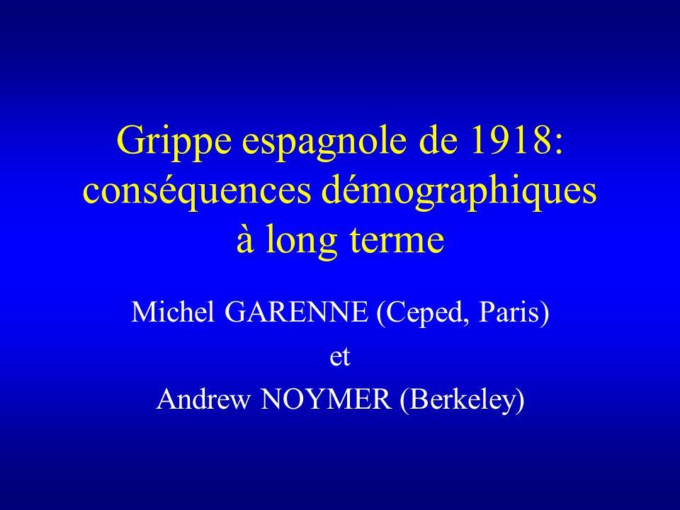 Grippe espagnole de 1918: conséquences démographiques à long terme