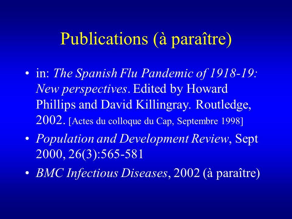 Publications (à paraître)
