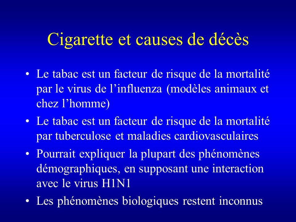 Cigarette et causes de décès