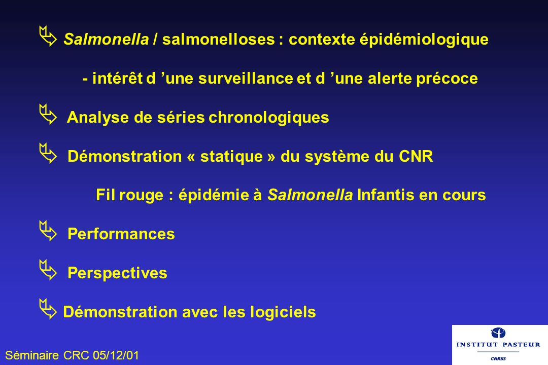 Salmonella / salmonelloses : contexte épidémiologique