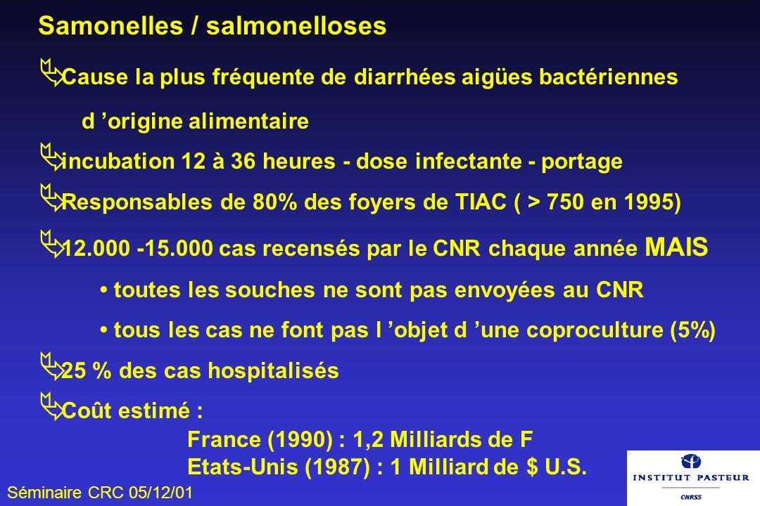 Samonelles / salmonelloses
