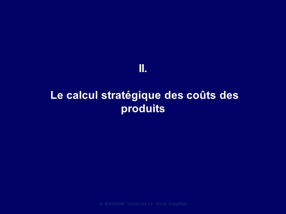II. Le calcul stratégique des coûts des produits