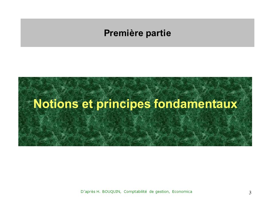 Notions et principes fondamentaux