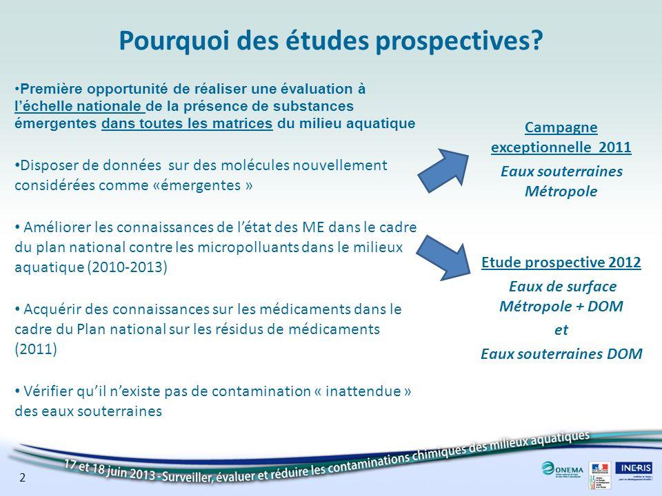 Pourquoi des études prospectives