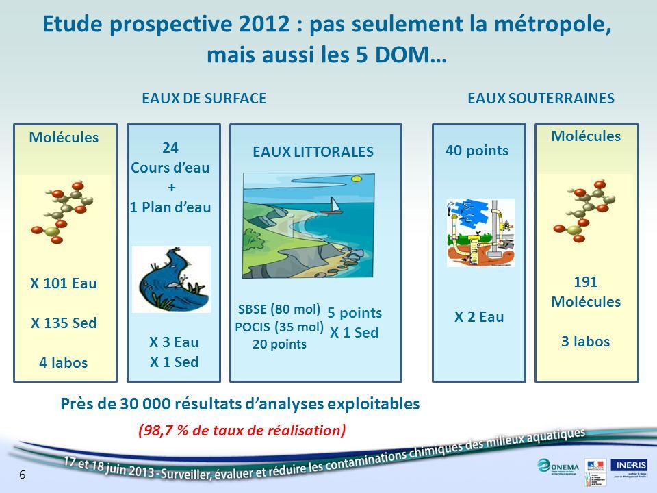Etude prospective 2012 : pas seulement la métropole, mais aussi les 5 DOM…