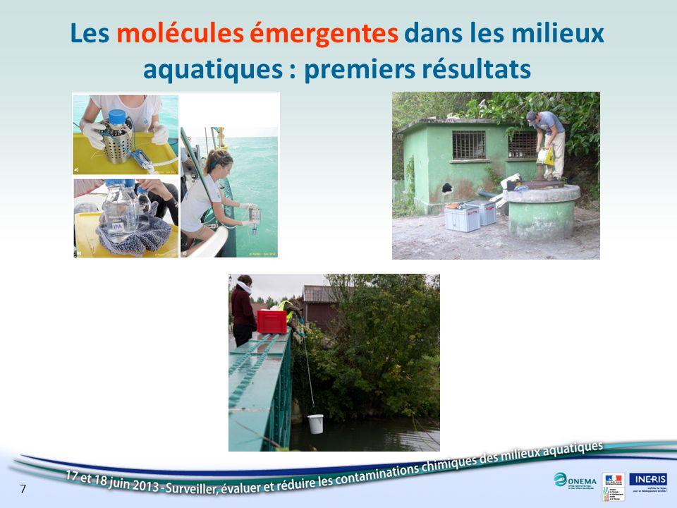 Les molécules émergentes dans les milieux aquatiques : premiers résultats