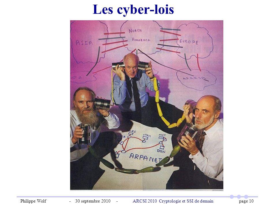 Les cyber-lois