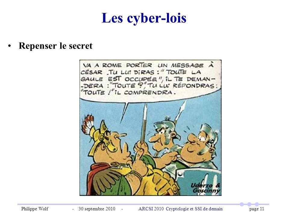 Les cyber-lois Repenser le secret