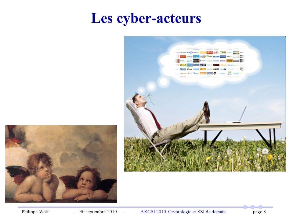 Les cyber-acteurs