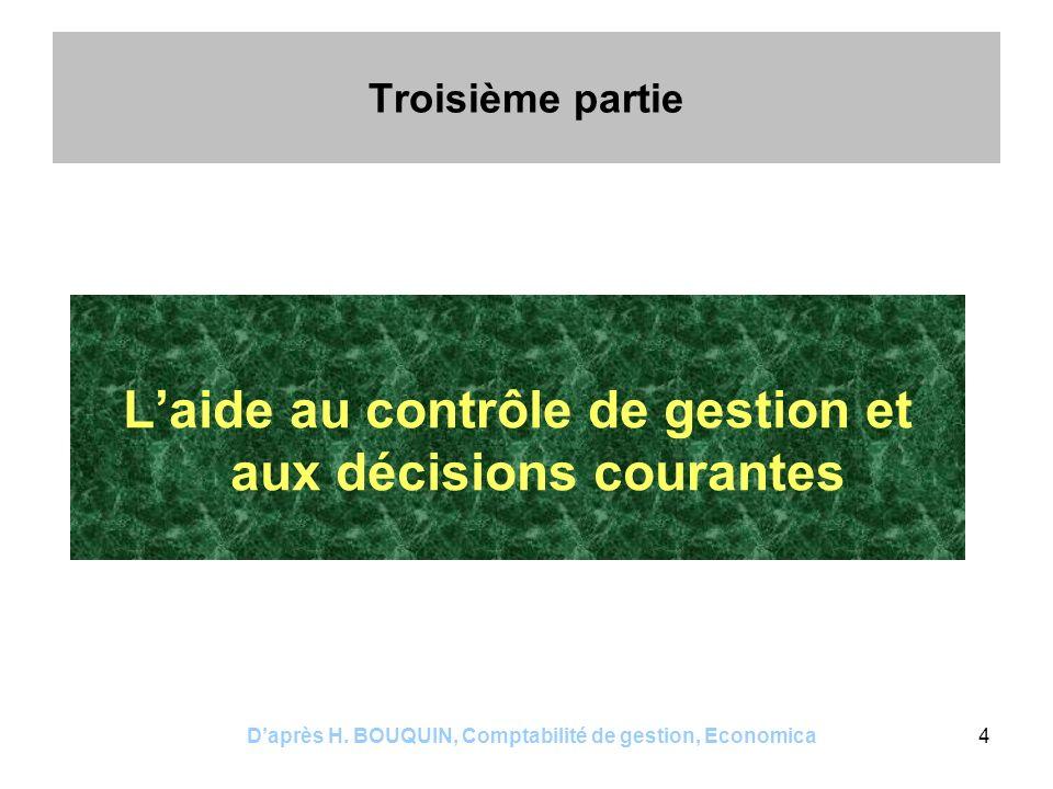 L'aide au contrôle de gestion et aux décisions courantes
